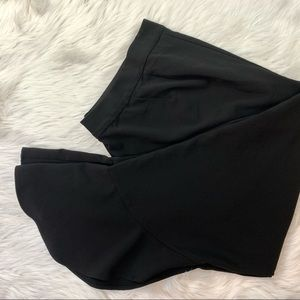 EUC Lane Bryant black ruffle hem pants plus slacks